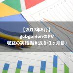 【2017年5月】gcbgardenのPV・収益の実績振り返り(1ヶ月目)