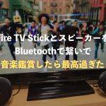 Fire TV StickとスピーカーをBluetoothで繋いで音楽鑑賞したら最高過ぎた