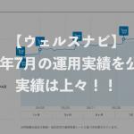 【ウェルスナビ】2017年7月の運用実績を公開!実績は上々!!