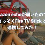 Amazon echoが届いたので、さっそくFire TV Stickと連携してみた!