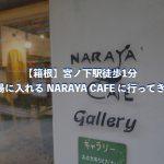 【箱根】宮ノ下駅徒歩1分 足湯に入れる NARAYA CAFE に行ってきた